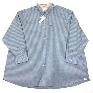 Lacoste 5XLT Blue Long Sleeve Button Dress Shirt